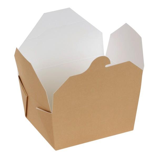 Take away Box mit PLA-Beschichtung braun/weiß 110x90x65mm 800ml, naturesse