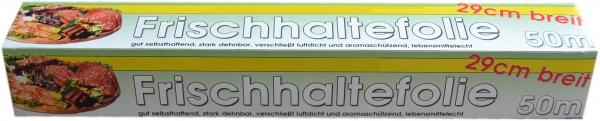 Frischhaltefolie transparent 290mmx50mx9my mit Säge in Faltschachtel