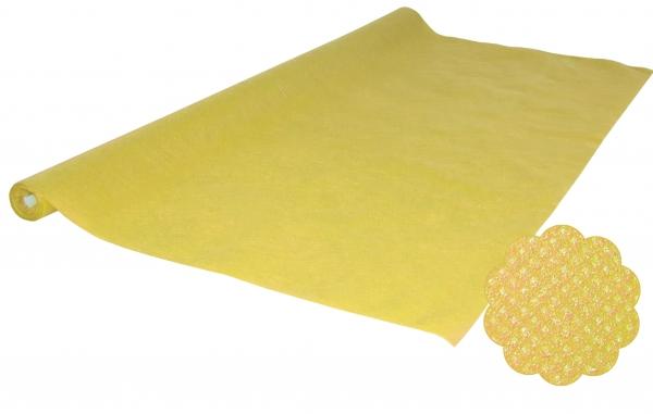 Vlies Tischtuchrollen uni, 5mx1,2m PP-Vlies gelb