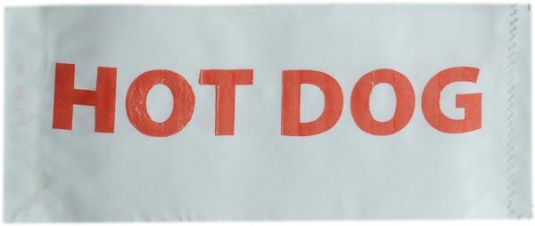 "Hot Dog Beutel 90x210mm gebl. Motiv ""Hot Dog"""