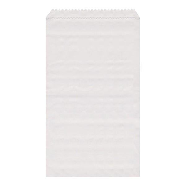 Papier Flachbeutel weiß 13 x 19 cm