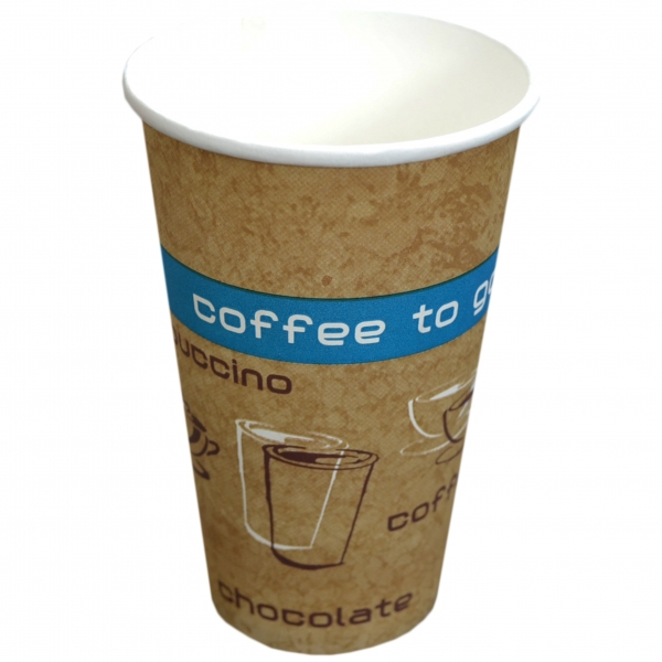 B1 Coffee To Go Becher ppk 250ml Coffee Cup beige mit Motiv, Kaffeebecher