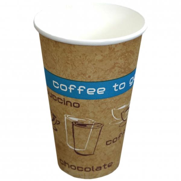 B1 Coffee To Go Becher ppk 250ml Coffee Cup beige mit Motiv, Kaffeebecher