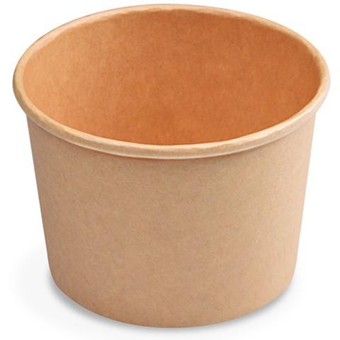 Suppenbecher 500 ml Pappe braun, (Ø 115 mm)