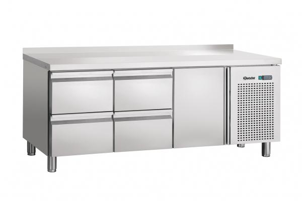 Kühltisch,Umluft,1T,4SL,Aufkantung
