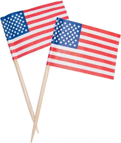 "Z1 Dekopicker pl Länderflaggen ""USA"" 65mm"