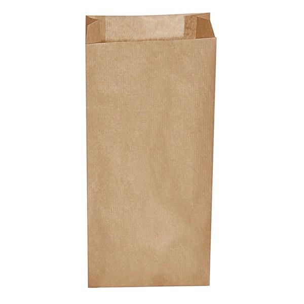 Papier Faltenbeutel braun 2,5 kg (15+7 x 35 cm)