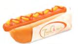 """Hot Dog Beutel 80x210mm gebl. Motiv """"Fresh and Tasty"""""""