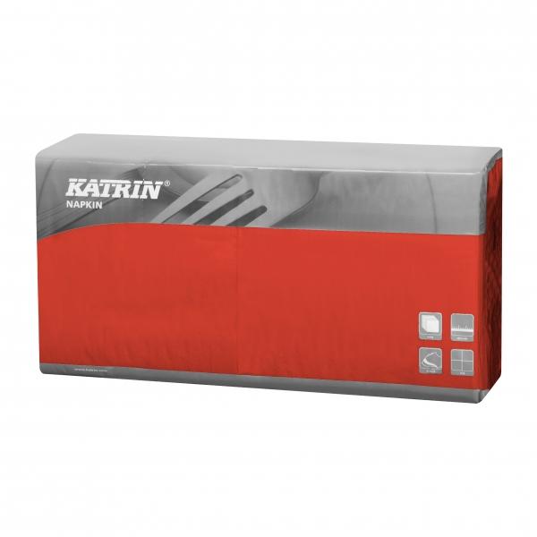 Rot Katrin Premium Servietten papier 400mm 3-lagig 1/4 Falz