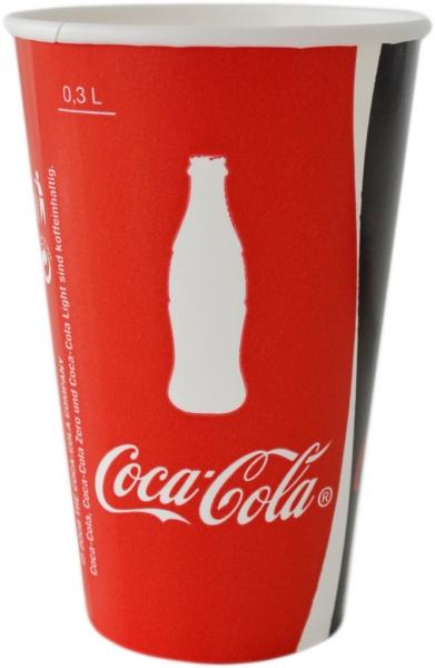 "A4 Becher ppk 300ml mit Motiv ""Coca Cola"""