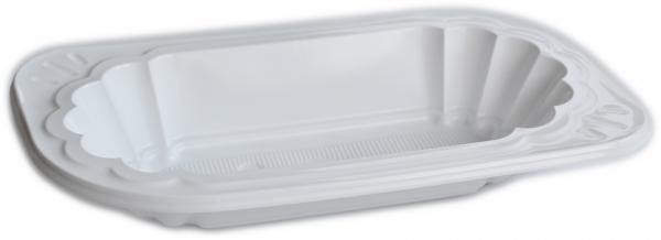 Imbissschale 250ml oval plastik weiß 177x96x31mm