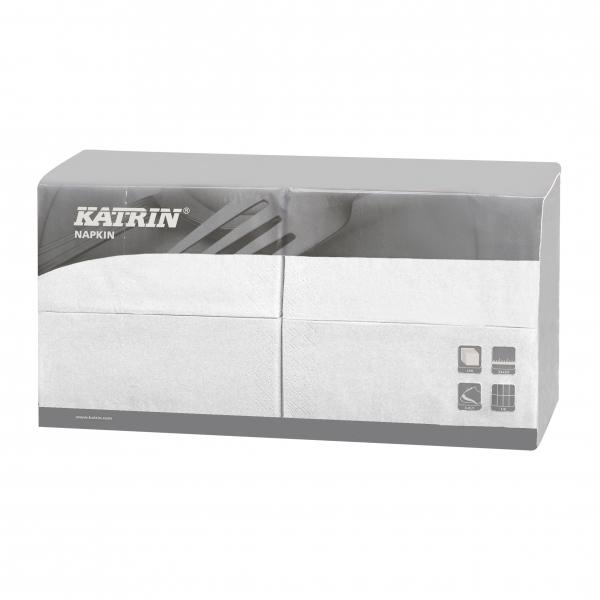 B6 Weiß Katrin Premium Servietten papier 330mm 3-lagig 1/8 Falz