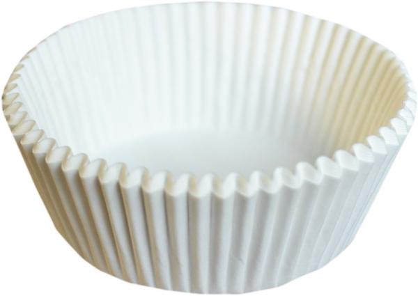 Muffinkapseln weiß 70x50mm