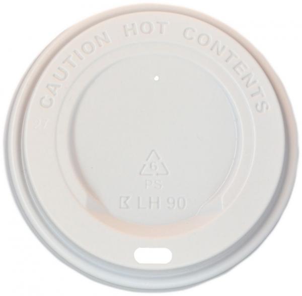 Deckel pl weiß Ø 90mm für alle B2 Coffee To Go Becher , Kaffeebecher Deckel