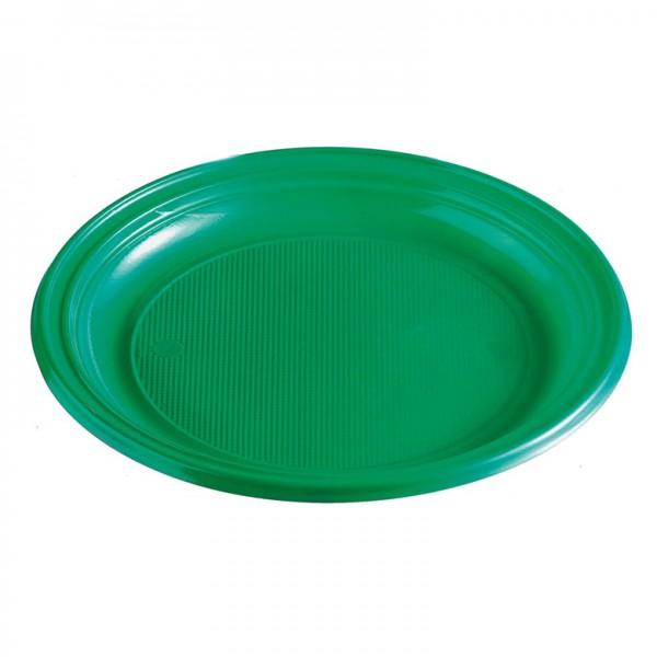 Menüteller Plastik grün rund ungeteilt pp 220 mm