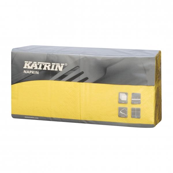 Gelb Katrin Premium Servietten papier 240mm 3-lagig 1/4 Falz