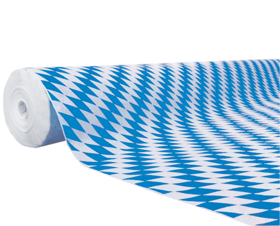 tischdecke papier 1000mmx50m mit motiv bayrische raute tischdecken tischkultur. Black Bedroom Furniture Sets. Home Design Ideas