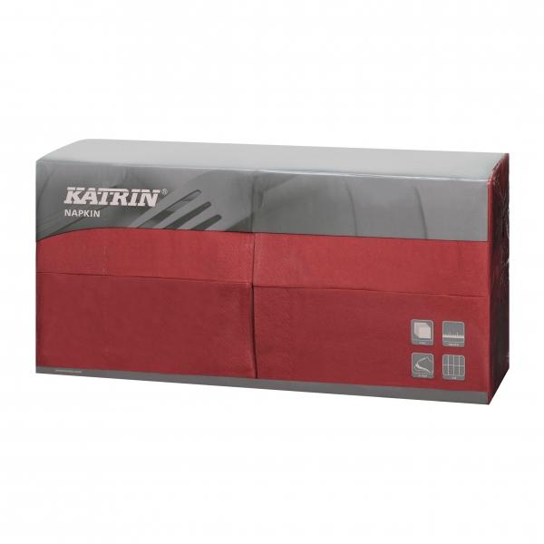 Bordeaux Katrin Premium Servietten papier 400mm 3-lagig 1/8 Falz