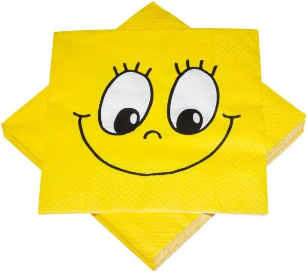 "Premium Servietten papier mit Motiv ""Smile"" 330mm 3-lagig 1/4 Falz"