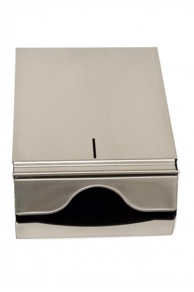 Spender für Papierhandtücher 250x330x125mm, 500St., INOX - 1