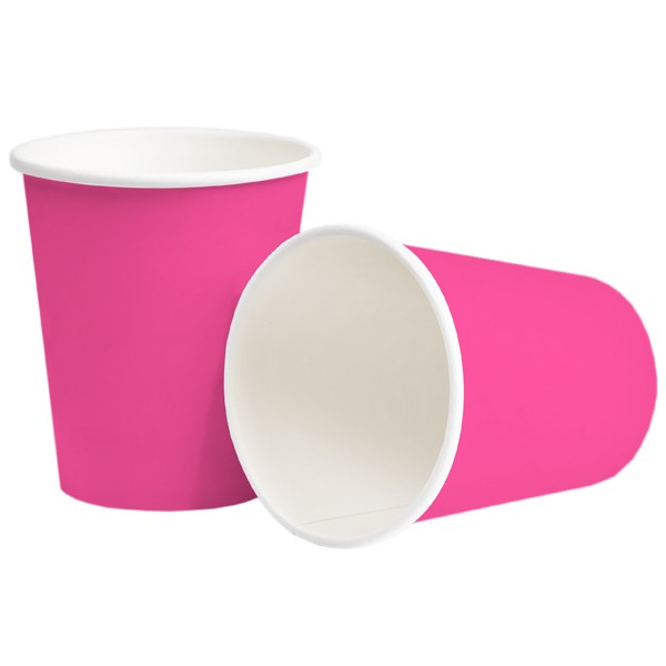 Pappbecher 250ml pink
