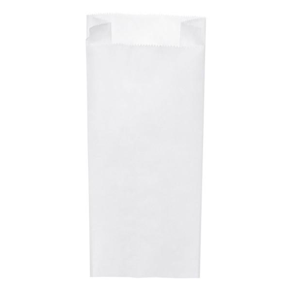 Papier Faltenbeutel weiß 2 kg (14+7 x 32 cm)