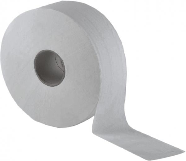 Jumbo-Toilettenpapier 2-lagig, ø25 cm, recycling - 6 Rollen (AG-039 / ST-88039)