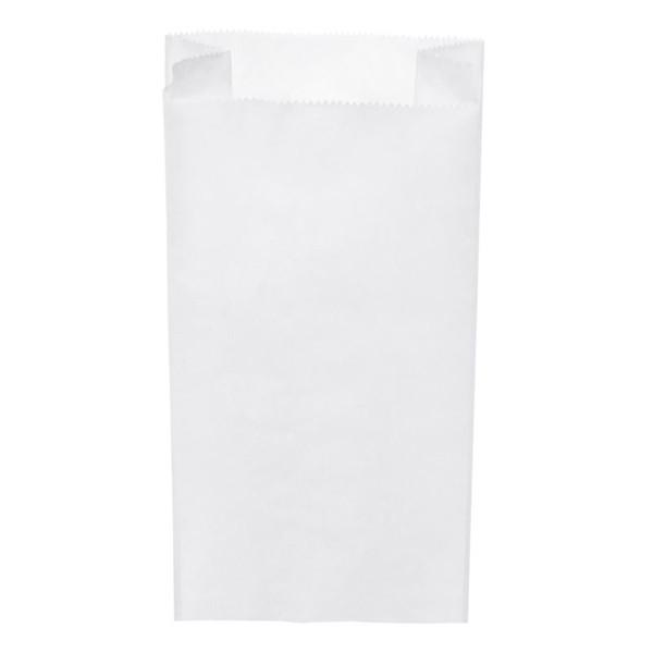 Papier Faltenbeutel weiß 1 kg (12+5 x 24 cm)