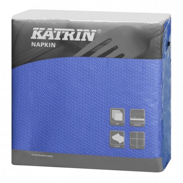 Blau Katrin Servietten papier 330mm 1-lagig 1/4 Falz