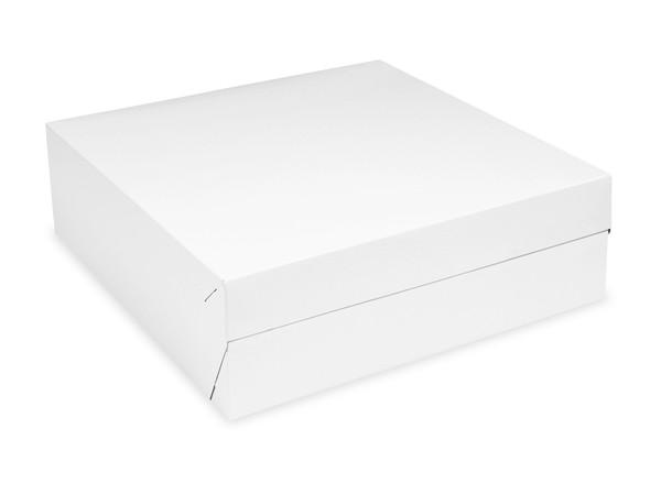 Tortenkarton pp 1-teilig weiß, 300x300x100mm