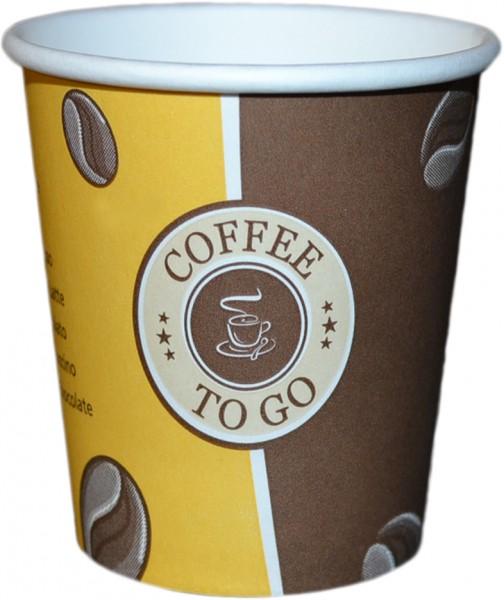 Espressobecher ,Coffee To Go Becher ppk 100ml beschriftet Gelb,