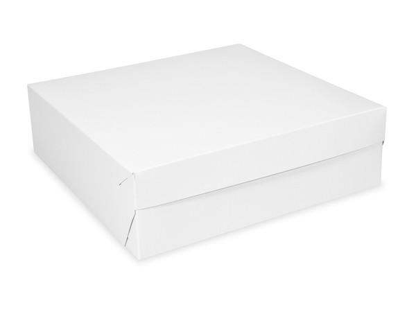 Tortenkarton pp 1-teilig weiß, 250x250x100mm