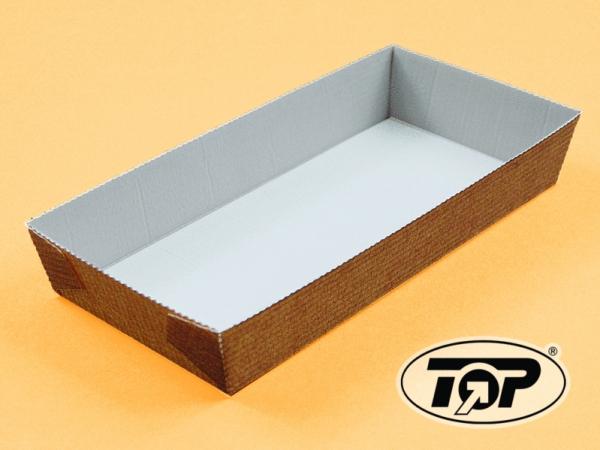 Einweg-Backform eckig 100x215x35mm papier