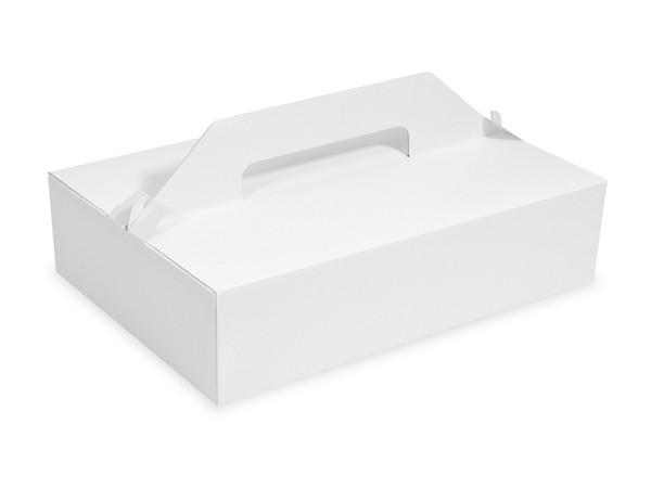 Tragebox für Tortenstücke pp 1-teilig weiß, 270x180x80mm