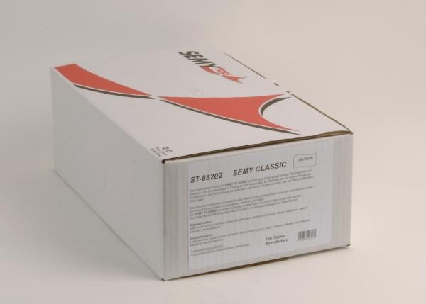 Airlaidtücher, Vließtücher / Rollen Semy Classic Putztuch, 32x38 cm - Box:6x100 Tücher