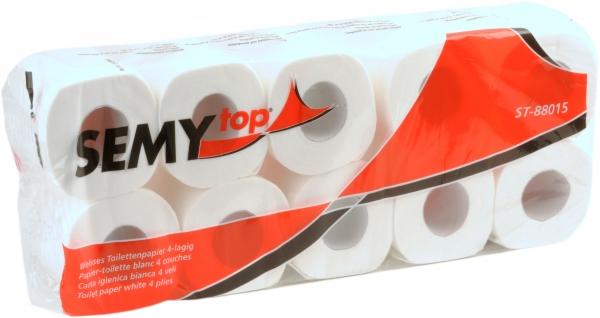 Toilettenpapiere 4-lagig hochweiß 80 Rollen á 150 Blatt - ST-88015