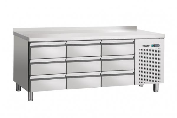 Kühltisch,Umluft,9SL,mit Aufkantung