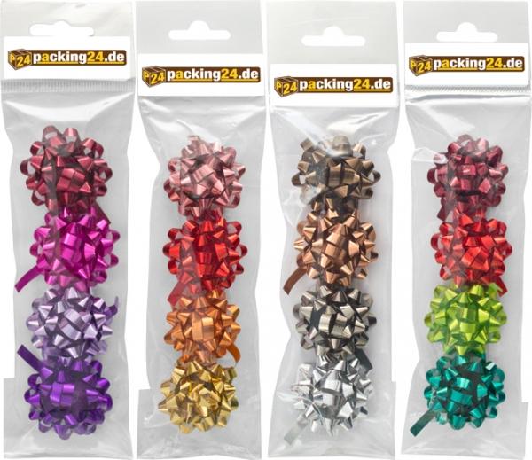 "16 selbstklebende Minischleifen ""Metallic"" im Polybeutel"