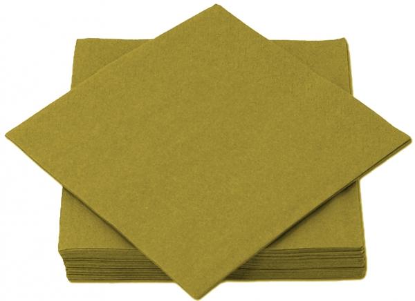 Gold Premium Servietten papier 330mm 3-lagig 1/4 Falz