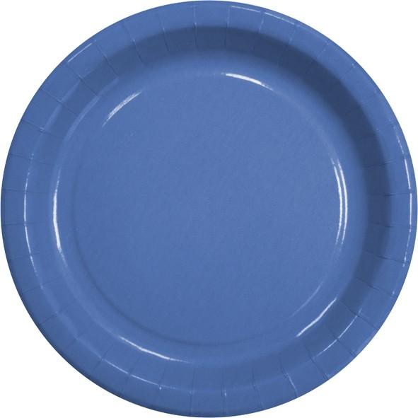 """Pappteller rund flach ppk Motiv """"blau"""" 230mm"""