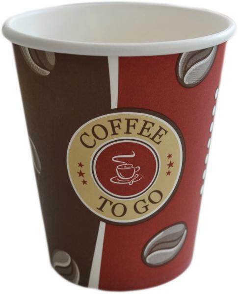 B1 Coffee To Go Becher ppk 200ml , 8OZ, beschriftet Topline, Kaffeebecher