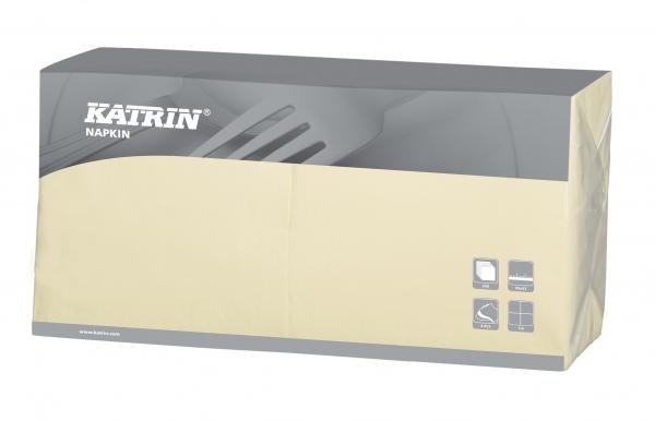Creme Katrin Premium Servietten papier 330mm 3-lagig 1/4 Falz
