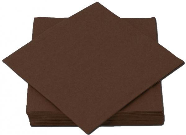 Mocca Premium Servietten papier 330mm 3-lagig 1/4 Falz