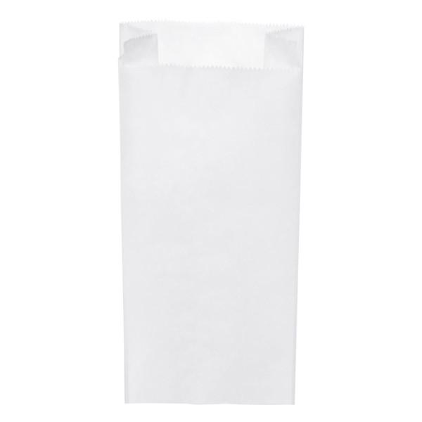 Papier Faltenbeutel weiß 2,5 kg (15+7 x 35 cm)