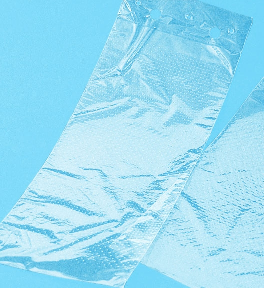 PP-Flachbeutel genadelt, geblockt, transparent 150x250x40mm 25my