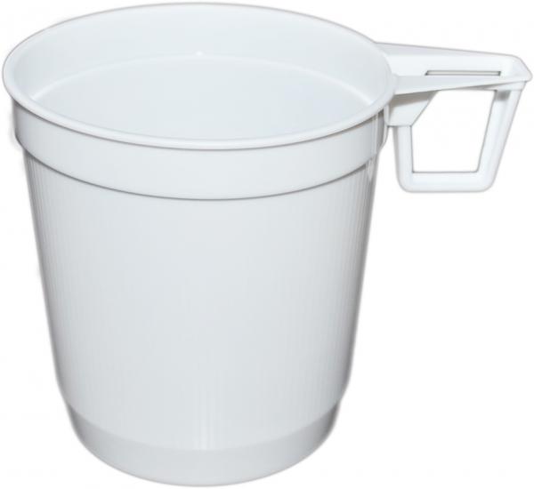 Doppeltasse 250ml pl weiß , Coffee To Go