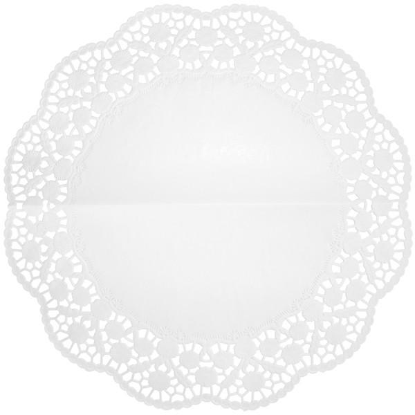 Tortenspitzen rund weiß 360mm