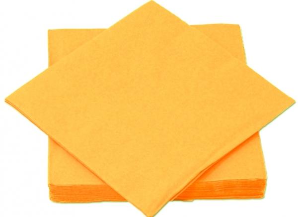 Orange Premium Servietten papier 330mm 3-lagig 1/4 Falz