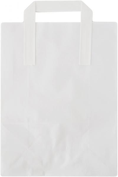Tragetasche Papier weiß 220x105x300mm