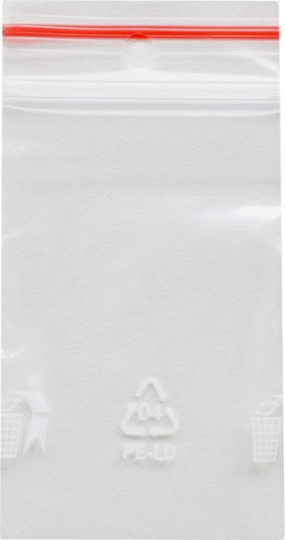 Druckverschlussbeutel 4 - 70x100mm LDPE transparent